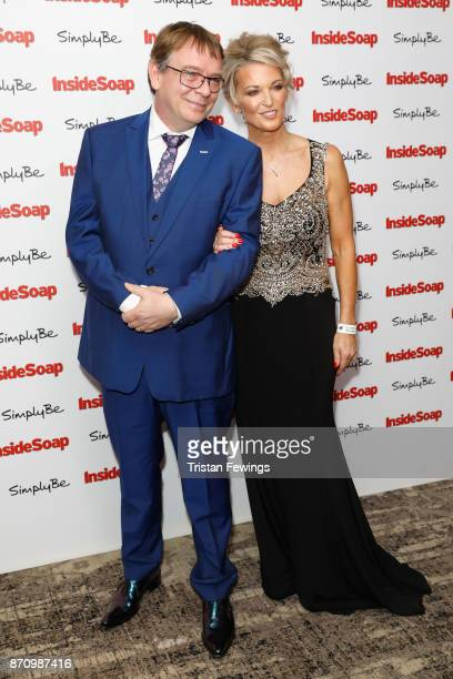 Adam Woodyatt and Gillian Taylforth attend the Inside Soap Awards held at The Hippodrome on November 6 2017 in London England