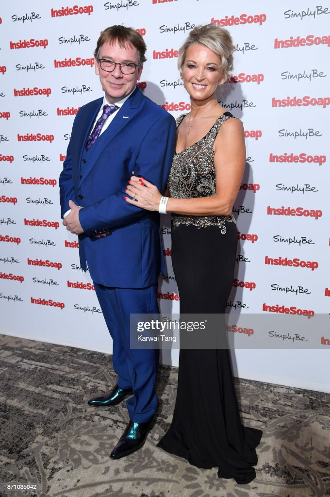 Adam Woodyatt and Gillian Taylforth attend the Inside Soap Awards at The Hippodrome on November 6, 2017 in London, England.