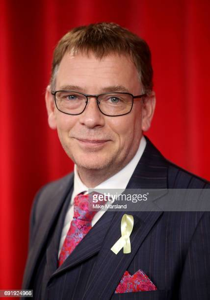 Adam Woodyatt attends The British Soap Awards at The Lowry Theatre on June 3 2017 in Manchester England The British Soap Awards will be aired on June...