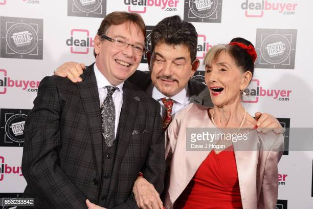 Adam Woodyatt John Altman and June Brown attend the TRIC Awards 2017 at The Grosvenor House Hotel on March 14 2017 in London England