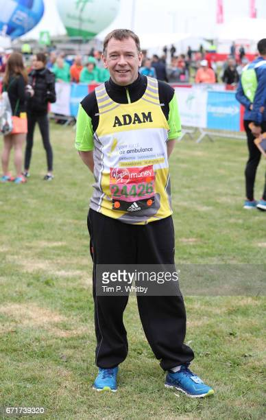 Adam Woodyatt poses for a photo ahead of participating in The Virgin London Marathon on April 23 2017 in London England