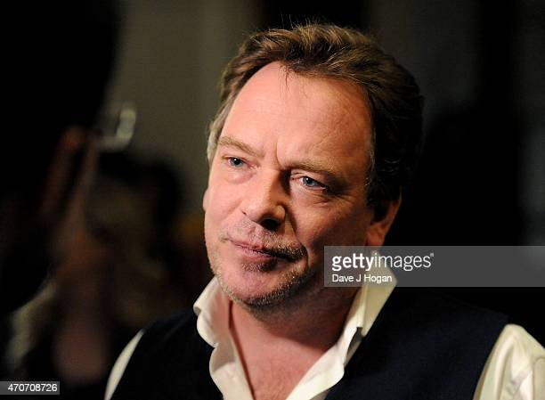 Adam Woodyatt talks to reporter as he attends the BAFTA Nominees Party at The Corinthia Hotel on April 22 2015 in London England