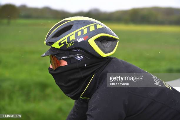 Adam Yates of Great Britain and Mitchelton-Scott / Cold / Rain / Detail view / during the 105th Liege - Bastogne - Liege 2019 a 256km race from Liege...