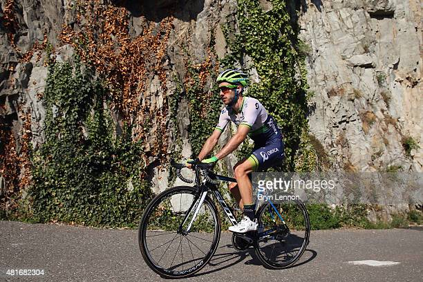 Adam Yates of Great Britain and Orica Greenedge in action during Stage Eighteen of the 2015 Tour de France a 1865km stage between Gap and...