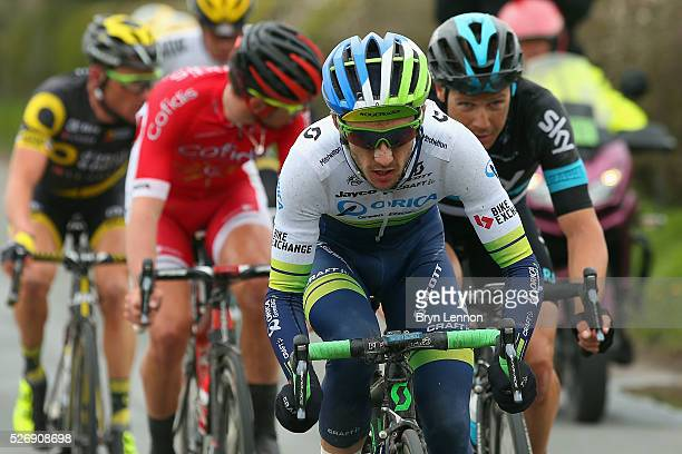 Adam Yates of Great Britain and Orica GreenEdge in action during stage three of the 2016 Tour de Yorkshire from Middlesbrough to Scarborough on May 1...
