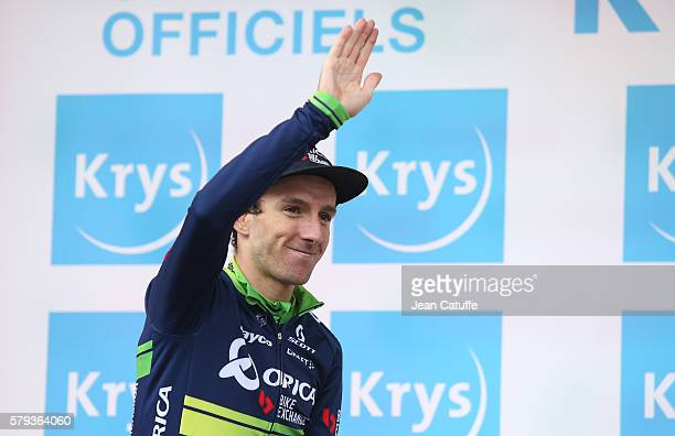 Adam Yates of Great Britain and OricaBikeExchange retains the white jersey of best young rider following stage 20 of the Tour de France 2016 a stage...