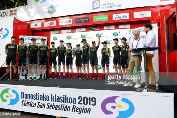 Adam Yates of Great Britain and Team MitcheltonScott / Brent Bookwalter of The United States and Team MitcheltonScott / Luke Durbridge of Australia...