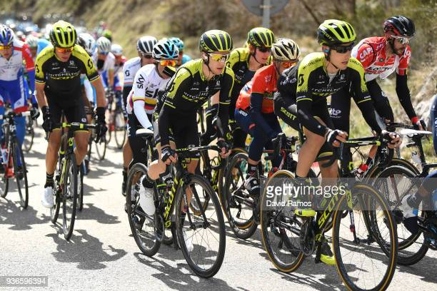 Adam Yates of Great Britain and Team MitcheltonScott / Carlos Verona Quintanilla of Spain and Team MitcheltonScott / during the 98th Volta Ciclista a...