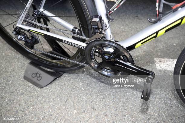 Adam Yates of Great Britain and Team Mitchelton-Scott / Crankset / Pedal / Chain / Scott Bike / during the 105th Tour de France 2018, Stage 2 a...