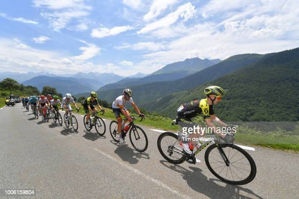 Adam Yates of Great Britain and Team Mitchelton-Scott / Gorka Izagirre of Spain and Bahrain Merida Pro Team / Mikel Nieve of Spain and Team...