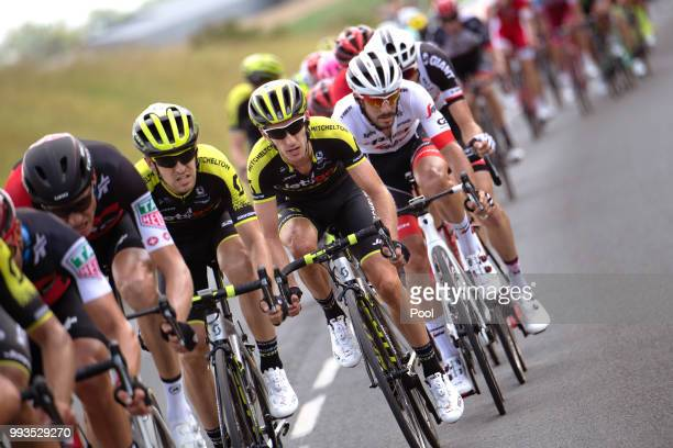 Adam Yates of Great Britain and Team MitcheltonScott / Mikel Nieve of Spain and Team MitcheltonScott / during the 105th Tour de France 2018 Stage 1 a...