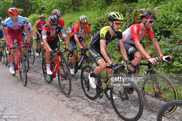 Adam Yates of Great Britain and Team MitcheltonScott / Tomasz Marczynski of Poland and Team Lotto Soudal / Damiano Caruso of Italy and BMC Racing...