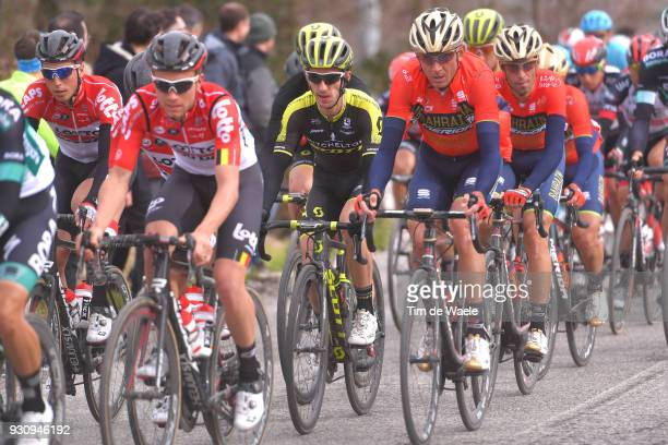 Adam Yates of Great Britain Vincenzo Nibali of Italy during the 53rd TirrenoAdriatico 2018 Stage 6 a 153km stage from Numana to Fano on March 12 2018...