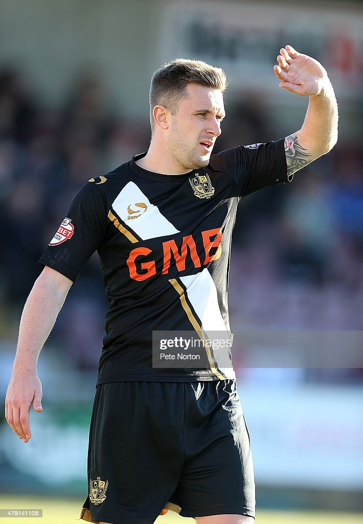 Adam Yates of Port Vale in action during the Sky Bet League One match between Coventry City and Port Vale at Sixfields Stadium on March 16, 2014 in Northampton, England.
