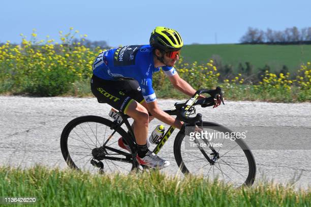 Adam Yates of the United Kingdom and Team Mitchelton - Scott Blue Leader Jersey / during the 54th Tirreno-Adriatico 2019, Stage 5 a 180km stage from...