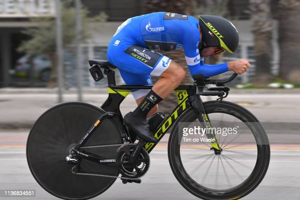 Adam Yates of the United Kingdom and Team Mitchelton - Scott Blue Leader Jersey / during the 54th Tirreno-Adriatico 2019, Stage 7 a 10,05km...