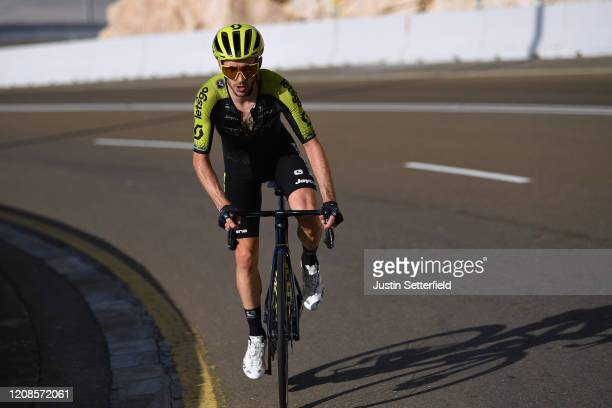 Adam Yates of The United Kingdom and Team Mitchelton - Scott / during the 6th UAE Tour 2020, Stage 3 a 184km stage from Al Qudra Cycle Track to Jebel...