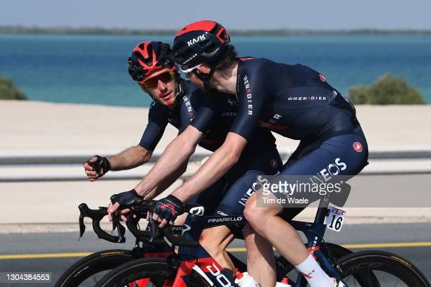 Adam Yates of The United Kingdom & Luke Rowe of The United Kingdom and Team INEOS Grenadiers during the 3rd UAE Tour 2021, Stage 7 a 147km stage from...