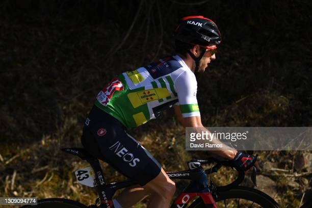 Adam Yates of United Kingdom and Team INEOS Grenadiers Green Leader Jersey during the 100th Volta Ciclista a Catalunya 2021, Stage 4 a 166,5km stage...