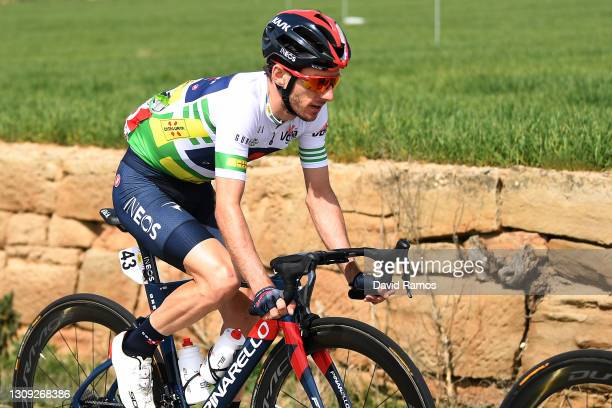 Adam Yates of United Kingdom and Team INEOS Grenadiers Green Leader Jersey during the 100th Volta Ciclista a Catalunya 2021, Stage 5 a 201,5km stage...