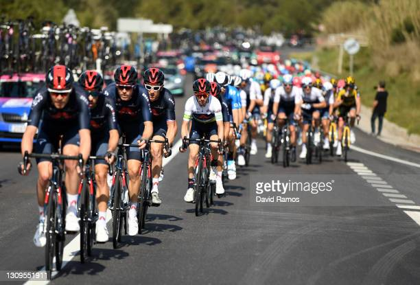 Adam Yates of United Kingdom and Team INEOS Grenadiers Green Leader Jersey during the 100th Volta Ciclista a Catalunya 2021, Stage 7 a 133km stage...