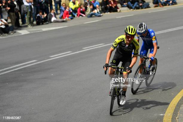 Adam Yates of United Kingdom and Team Mitchelton - Scott / Enric Mas of Spain and Team Deceuninck - Quick-Step / during the 99th Volta Ciclista a...