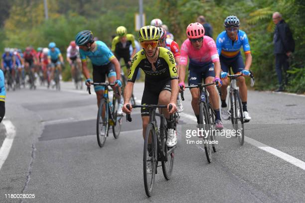 Adam Yates of United Kingdom and Team Mitchelton Scott / Michael Woods of Canada and Team EF Education First / Alejandro Valverde Belmonte of Spain...