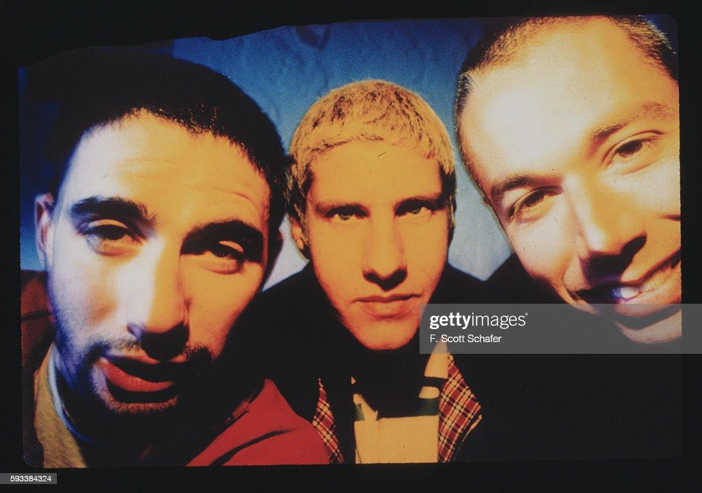 Adam Yauch, Adam Horovitz and Michael Diamond of the Beastie Boys are photographed in January 1994.