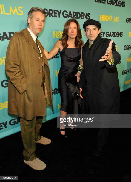 Adam Yauch and executive producer Rachael Horovitz attends HBO films presents 'Grey Gardens' New York premiere at the Ziegfeld Theater on April 14...