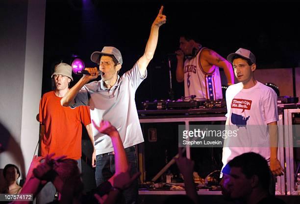Adam Yauch, Mike Diamond and Adam Horovitz of Beastie Boys with Mix Master Mike