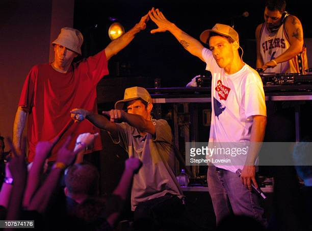 Adam Yauch Mike Diamond and Adam Horovitz of Beastie Boys with Mix Master Mike