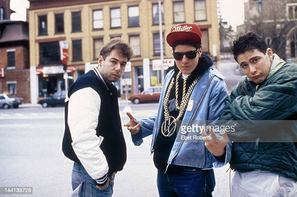 Adam Yauch Mike Diamond and Adam Horvitz of the The Beastie Boys group portrait Worcester Massachusetts April 9 1987