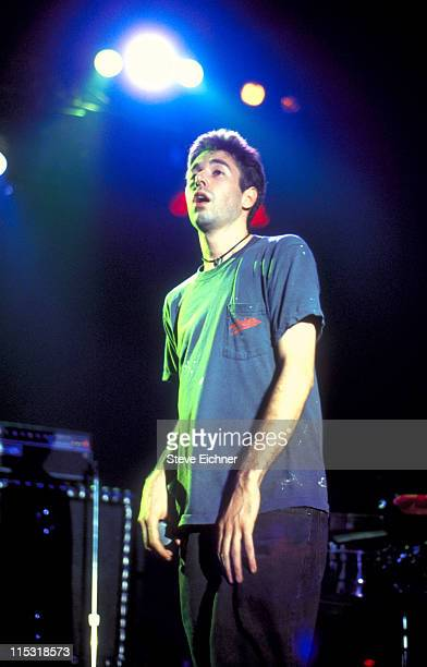 Adam Yauch of Beastie Boys during Beastie Boys in Concert at Roseland Ballroom 1992 at Roseland Ballroom in New York New York United States