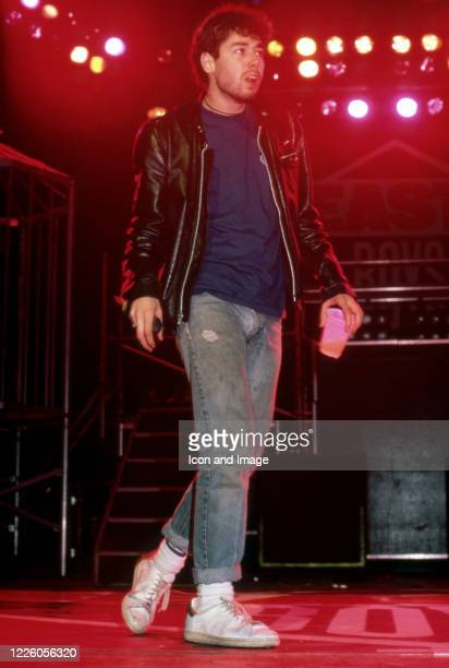 Adam Yauch of the Beastie Boys performs during the Together Forever Tour on July 29 at the Pine Knob Music Theater in Clarkston, Michigan.