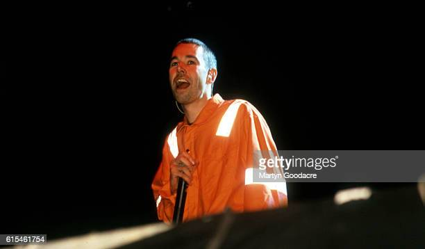 Adam Yauch of the Beastie Boys performs on stage, London, 1998.