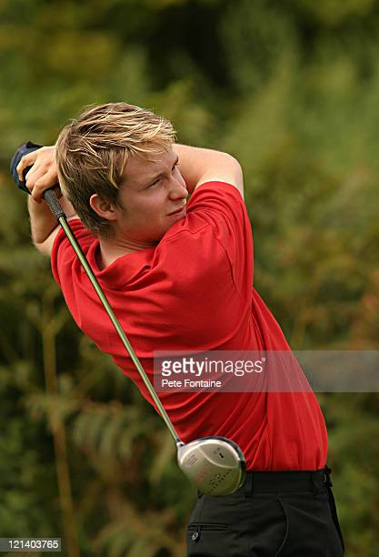 Adam Young competes during the final round of the International Pairs World Final held at the Marriott Saint Pierre Hotel and Country Club August 24...