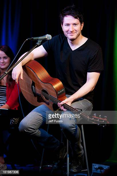 Adam Young of Owl City performs at the Q102 iHeartRadio Performance Theater on September 14 2012 in Bala Cynwyd Pennsylvania