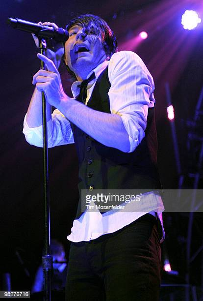 Adam Young of Owl City performs in support of the bands' Ocean Eyes release at The Fillmore on April 5 2010 in San Francisco California