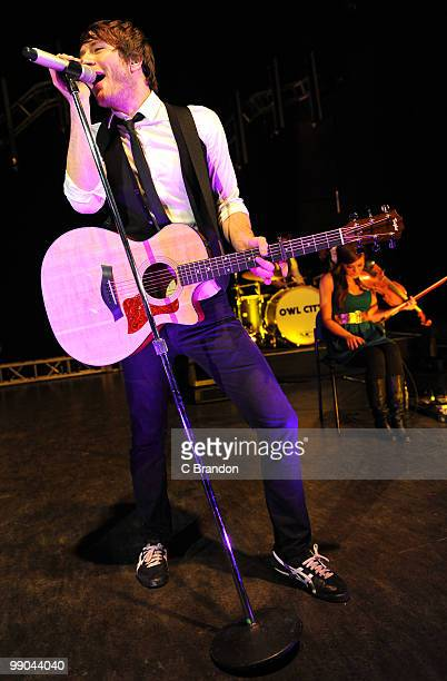 Adam Young of Owl City performs on stage at Shepherds Bush Empire on May 9 2010 in London England