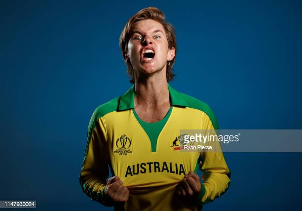 Adam Zampa of Australia poses during an Australia ICC One Day World Cup Portrait Session on May 07 2019 in Brisbane Australia
