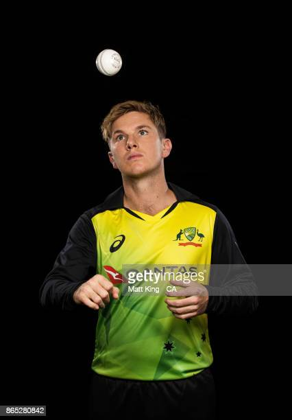 Adam Zampa of Australia poses during the Australia cricket team portrait session at Intercontinental Double Bay on October 15 2017 in Sydney Australia