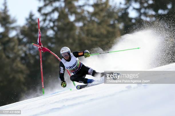Adam Zampa of Slovakia in action during the Audi FIS Alpine Ski World Cup Men's Giant Slalom on February 28, 2021 in Bansko Bulgaria.