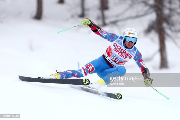 Adam Zampa of Slovakia in action during the Audi FIS Alpine Ski World Cup Men's Giant Slalom on December 9 2017 in Vald'Isere France