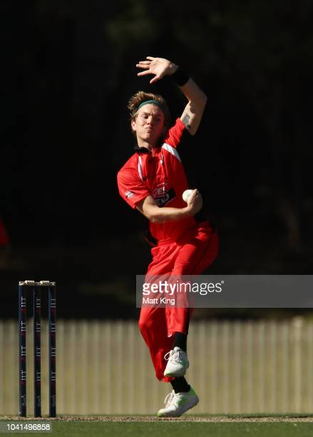 Adam Zampa of South Australia bowls during the JLT One Day Cup match between South Australia and Tasmania at Bankstown Oval on September 27 2018 in...