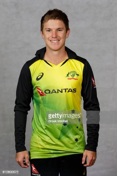 Adam Zampa poses during the Australian International Twenty20 headshots session at Sydney Cricket Ground on February 1 2018 in Sydney Australia