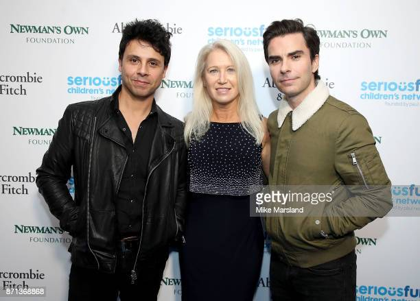 Adam Zindani and Kelly Jones of The Stereophonics with Clea Newman at the SeriousFun London Gala 2017 at The Roundhouse on November 7, 2017 in...