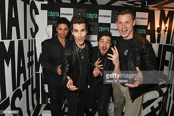 Adam Zindani Kelly Jones Jamie Morrison and Richard Jones of Stereophonics attends the launch of their new album 'Keep The Village Alive' at Drama...