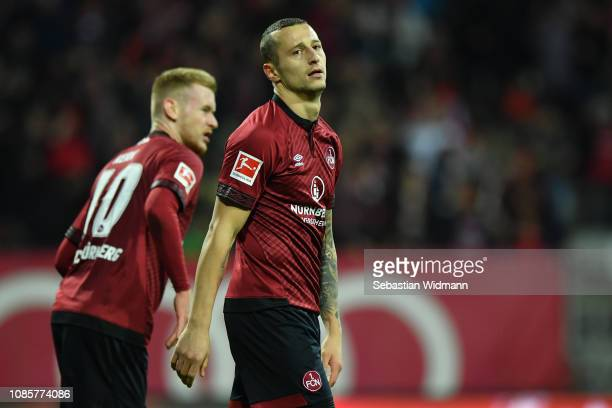 Adam Zrelak of Nuernberg looks on during the Bundesliga match between 1 FC Nuernberg and SportClub Freiburg at MaxMorlockStadion on December 22 2018...