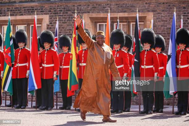 HE Adama Barrow of The Gambia arriving to the Executive Session of the Commonwealth Heads of Government in London England April 19 2018