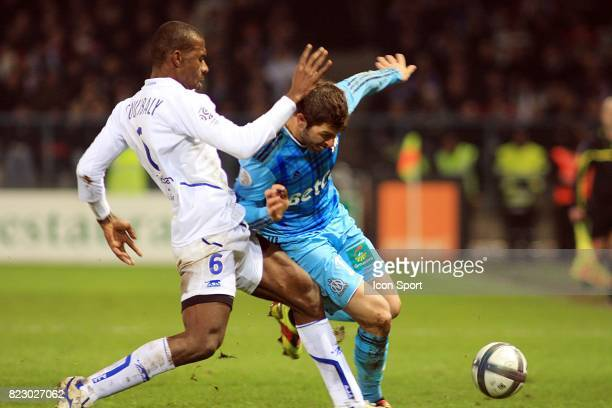 Adama COULIBALY / Andre Pierre GIGNAC Auxerre / Marseille 17eme journee de Ligue1